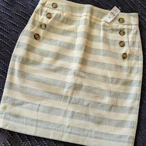 NWT Loft Button Skirt